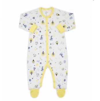 Комбинезон для мальчика Smil, возраст от 6 до 18 месяцев, желтый с принтом