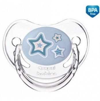 Пустышка силиконовая анатомическая Canpol babies Newborn baby, 0-6 мес, синие звезды