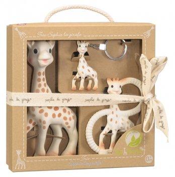 Подарочный набор Vulli Trio Жирафа Софи, прорезыватель с кольцами, брелок