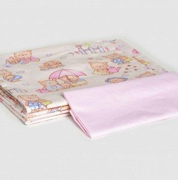 Сменный комплект детской постели Twins полуторная Standart, 3 эл., multi, белый