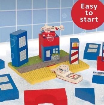 Набор плавающих блоков для ванны Just Think Toys, Береговая охрана
