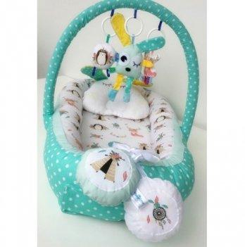 Кокон-гнездышко Happy Luna 0140 Babynest Plush Путешествие