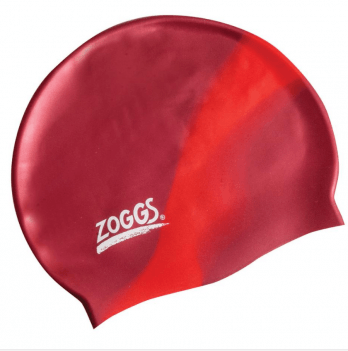 Шапочка для плавания Zoggs Junior Silicone Cap Multi Colour, красная