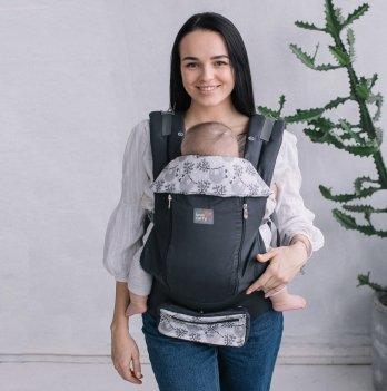 Эрго-рюкзак Love & Carry AIR X Ленивцы LC122 темно-серый