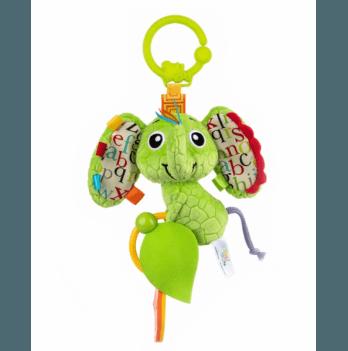 Игрушка мягкая Balibazoo Слоненок Ева, с подвеской, высота 25 см