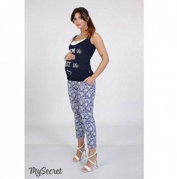 Брюки летние для беременных MySecret Dioni TR-27.041 сине-белый