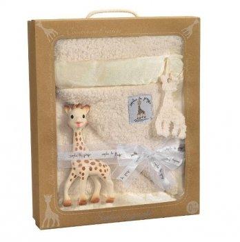 Подарочный набор PRESTIGE BLANKET, Vulli, Жирафа Софи и одеяло 85 х 73 см