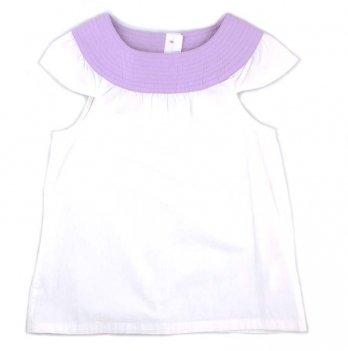 Детская блузка с коротким рукавомPaMaYa Белый 6-13 лет 232419
