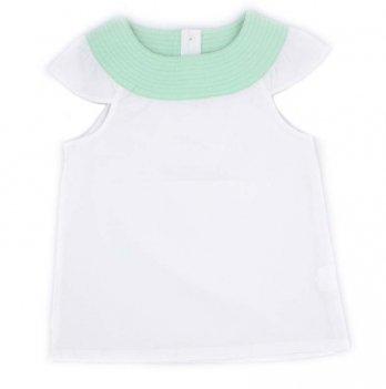Детская блузка с коротким рукавомPaMaYa Белый 7-13 лет 232425