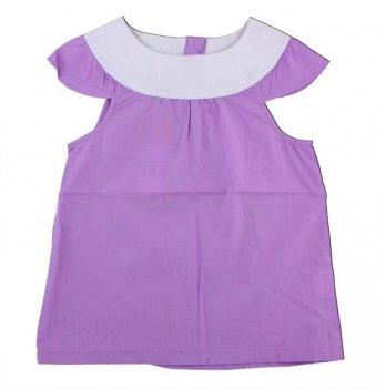 Детская блузка с коротким рукавомPaMaYa Сиреневый 7-13 лет 232419