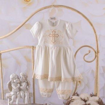 Костюм Чарівний янгол короткий рукав Бетис 27681534 молочно-золотой