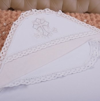 Крыжма Чарівний янгол-1 интерлок Бетис 27681543 бело-серебристый 75х80 см