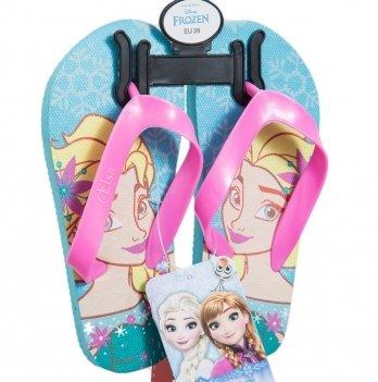 Шлепанцы-вьетнамки Disney Холодное сердце (Frozen), голубые/розовые