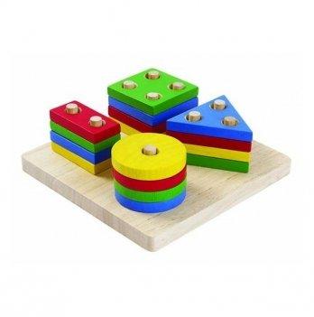 Сортер PlanToys® Доска с геометрическими фигурами