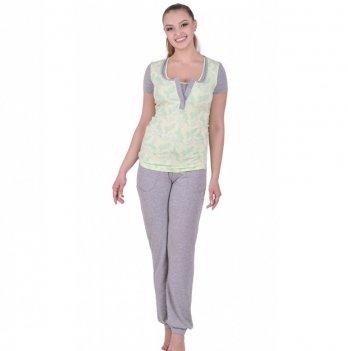 Пижама для беременных и кормящих Мамин дом 24138 Sunshine
