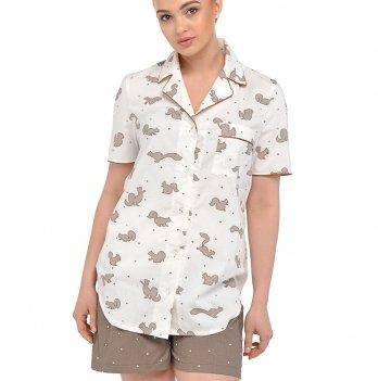 Пижама для беременных и кормящих женщин Мамин дом, Candy Nut, 24139