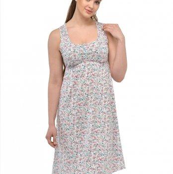 Ночная рубашка для беременных и кормящих Мамин дом 24140 Цветной принт