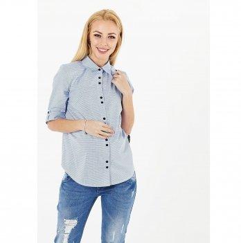 Рубашка для беременных и кормящих To Be Голубой 1394224