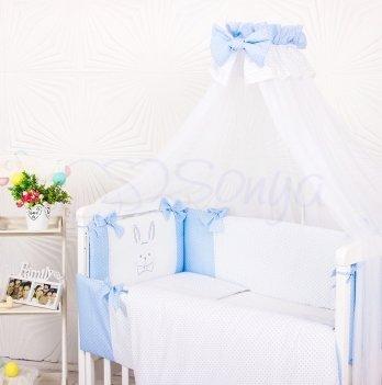 Комплект Smile голубой, Маленькая Соня, 7 предметов