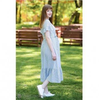 Платье для беременных и кормящих мам MySecret Zanzibar DR-29.084 сине-белый