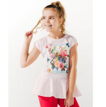 Футболка для девочки Smil возраст от 7 до 10 лет розовая