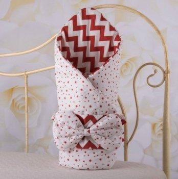 Демисезонный конверт-одеяло с поясом резинкой Бетис Зіронька Красный 27682741 85х85 см