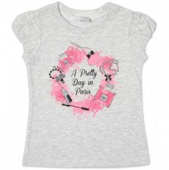 Футболка Garden baby для девочки, серый меланж, 26157-03