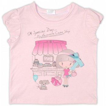 Футболка для девочки Garden baby, светло-розовая, 26158-03