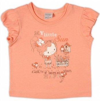 Футболка Garden baby для девочки, персиковая, 26159-03