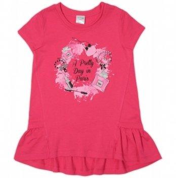 Туника для девочки Garden baby, малиновая, 26162-03