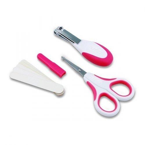 Набор по уходу за ребенком Nuvita 0м+, безопасные ножнички с акс., розовый