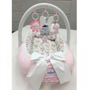 Кокон-гнездышко Happy Luna 0114 Babynest Plush Зайчик 3
