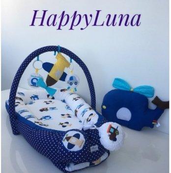 Кокон-гнездышко Happy Luna 0125 Babynest Standart Самолетик