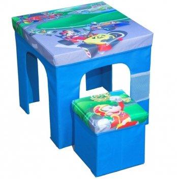 Раскладной комплект мебели Arditex Микки и веселые гонки, синий