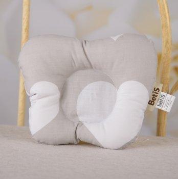 Подушка ортопедическая Бетис Сладкие сны Мини 0+ Серый 27683577 20х25 см