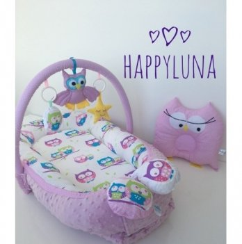 Кокон-гнездышко Happy Luna 0116 Babynest Plush Совки