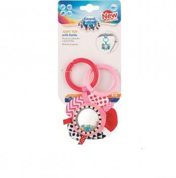 Игрушка плюшевая с погремушкой Canpol babies Zig Zag Лента Розовый 68/057