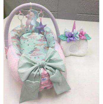 Кокон-гнездышко Happy Luna 0102 BabyNest Premium Единорог 4