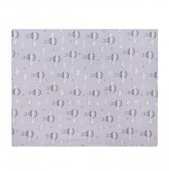 Муслиновая пеленка Sasha 80*100 см Воздушный шар Серый 280/9