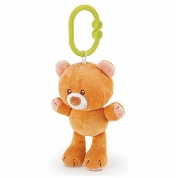 Мягкая игрушка погремушка Медведь Trudi 14 см