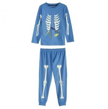 Пижама для мальчика Lupilu со светящимся принтом голубой