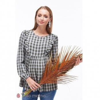 Блузка для беременных и кормящих MySecret Marcela BL-39.012 серый/зеленый