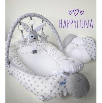 Кокон-гнездышко Happy Luna 0128 Babynest Standart Горошек