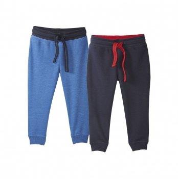 Штаны спортивные для мальчика Lupilu на флисе голубые и синие, 2 шт.