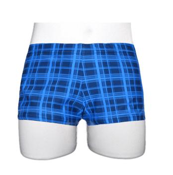 Плавки-шорты для мальчика Keyzi Classic small возраст от 6 до 9 лет синяя клетка