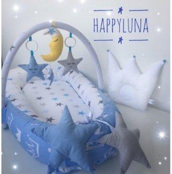 Кокон-гнездышко Happy Luna 0127 Babynest Standart Звездочки 3