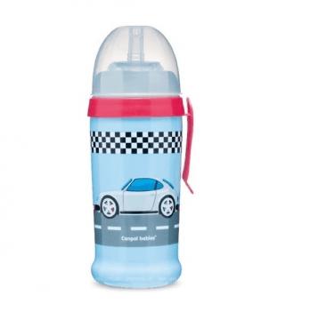 Поильник с силиконовой насадкой Canpol babies Racing, темно-синий