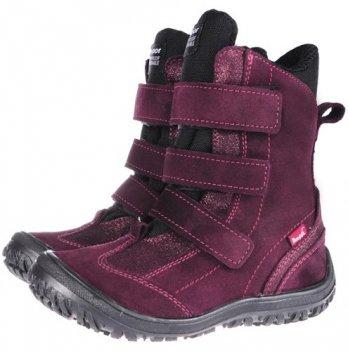 Ботинки зима Mrugala бордовые 7265-55