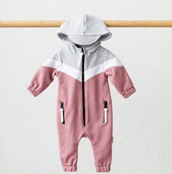Комбинезон детский из трехнитки Magbaby Oldy Розовый 0-12 месяцев