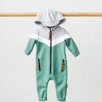 Комбинезон детский из трехнитки Magbaby Oldy Бирюзовый 0-12 месяцев